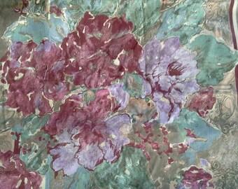 Large Floral Striped Decorator Print X0868