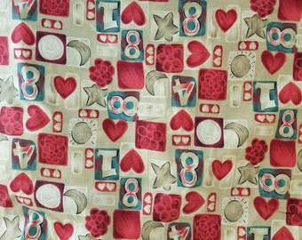 """Novelty Print Fabric """"The English Collection"""" Quilting Cotton Fabric 6 1/2 Yards  X1283 Will Divide"""
