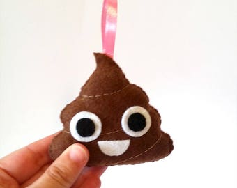Emoji poop plush, happy poop plushie
