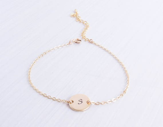 Gold personalized bracelet