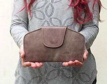 Leather clutch wallet, Brown Leather Wallet, wallets for women, women wallet leather, Wallet Leather Women, Distressed brown wallet purse