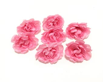 7 Cotton Candy PINK Ranunculus Buds - Artificial Flowers, Silk Flowers, Flower Crown, Hair Accessories, DIY Wedding, Corsage, Millinery