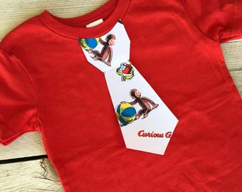 Curious George Iron On Tie Applique