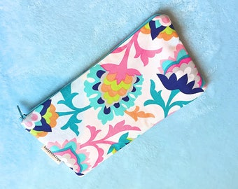 Pencil Case/Cosmetic Bag - Flowers - Ready to ship