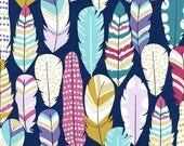 Summer Clearance Plucked Fabric in Midnight by Michael Miller Fabric - 1 Yard