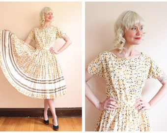 1950s Dress Set // Meadowlark 2pc Blouse & Skirt Set // vintage 50s Patio Dress Set