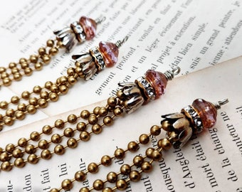 Chain Tassel Instant Earrings Instant Necklace Bauble