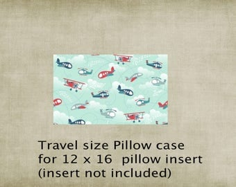 Pillowcase, travel size pillowcase, airplane pillowcase, kids pillowcase, Ships Today,
