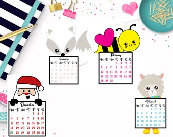 Monthly Calendar Die Cuts - planner die cut