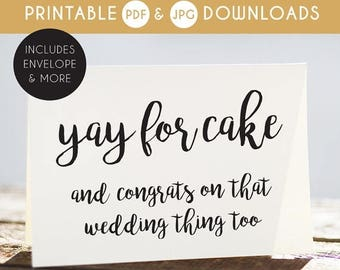 50% OFF wedding card, funny wedding card, printable wedding card, sarcastic wedding card, naughty wedding card, cake card