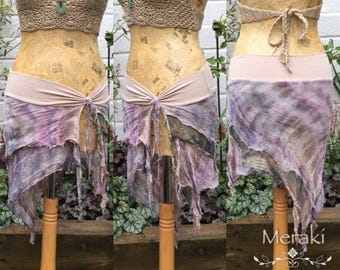 Fairy Layer Skirt Belt, Wrap Skirt, Lace Pixie Skirt