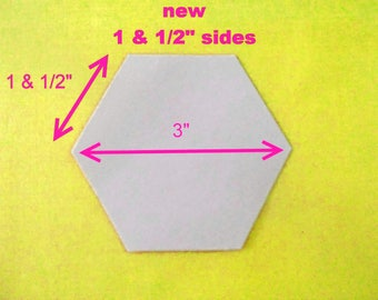 100 flexible plastic quilting hexagon templates reusable for Hexagon quilt template plastic
