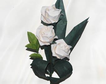 Origami Valentine Rose Trio