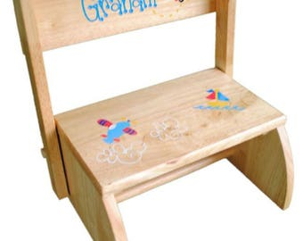 Childrens step stool etsy personalized childs flip stool baby chair childs step stool childs stool baby negle Image collections