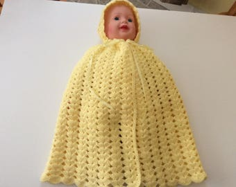 Cape baby size 0-3 months color yellow