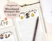 Whimsical Woodland Notepad Set