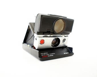 Re-Skinned SX-70 SLR Sonar BC Series Polaroid Camera - Film Tested Working