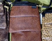 Leather Embossed Convert-A-Bag, Sectional Bag, Organizer Purse
