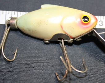 "Vintage Wood's Fishing Lure- Pearl Fishing Lure- 2 1/2"" Wood's fishing lure/ Collectible Fishing Lure"