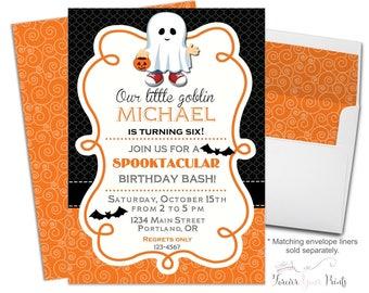 kids halloween party invitation halloween birthday invitation costume party halloween party invite - Kids Halloween Party Invite
