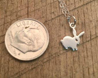 Bunny Sterling Silver Charm  Pendant Necklace  /Teenager gift / Sterling Silver / Teacher gift / co-worker gift / bridesmaid gift