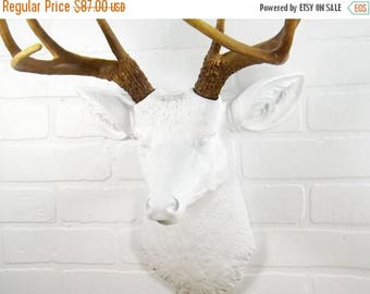 ON SALE Deer Head~Animal Head Decor~Faux Taxidermy~Antler~Stag~Deer Decor