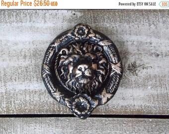 ON SALE Lion Head Door Knocker~Old World~Cast Iron Door Knocker~ Oil Rubbed Bronze
