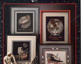 Space Cross Stitch 'Reach for the Stars' Counted Cross Stitch Booklet  1991 Book 10 by Rain Drop
