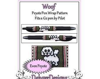 Peyote Beading Pattern (Pen Wrap/Cover)-Woof