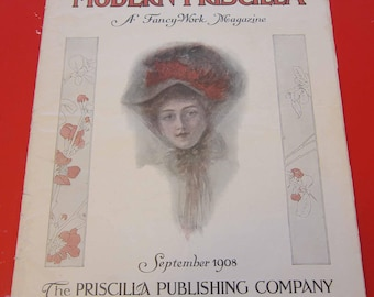 Magazine, Antique, Vintage, Fashions, Ads and Lots More: 1908, The Modern Pricilla