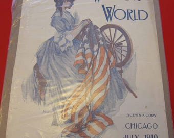 Magazine, Antique, Vintage, Fashions, Ads and Lots More: 1910, Women's World, Cover Only