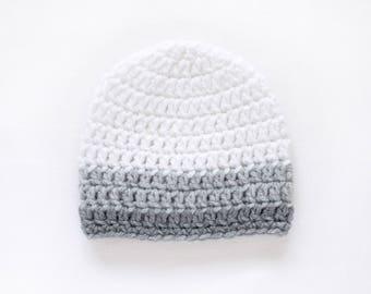 Baby Boy Hat / Newborn Beanie Boy / Crochet Baby Hat / Gifts For Boys / Toddler Hat / Boys Winter Hat / Baby Shower Gift Boy / Newborn Hat