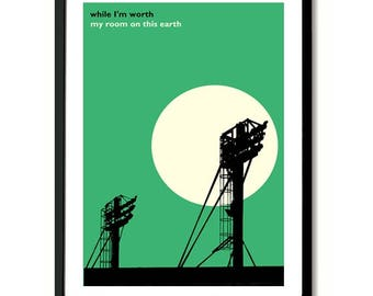Hibernian Sunshine On Leith Easter Road Floodlights Art Print
