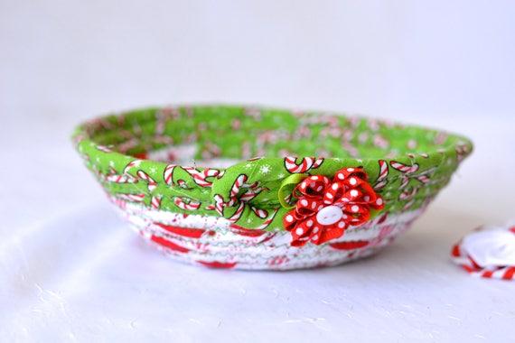Christmas Decoration, Holiday Candy Dish, Handmade Christmas Basket, Decorative Holiday Basket, Decorative Holiday Bowl