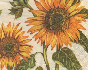 3224 - 1 paper flower sunflower towel