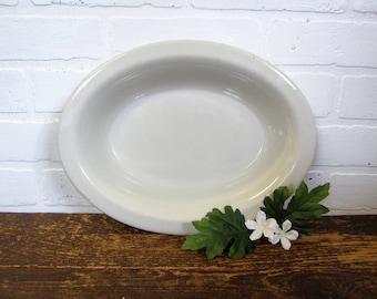 "Vintage Tepco USA China Creamy White Restaurant Ware 12"" Serving Vegetable Bowl"