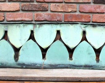 "One 45"" Antique Copper Clock Tower Architectural Embellishments - Architectural Fragment - Philadelphia"