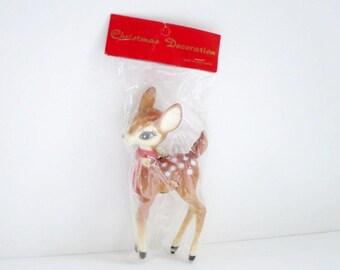 Christmas Reindeer, Plastic Reindeer, Deer Figurine, Deer, Mid Century Deer, Doe, Vintage Deer, Vintage Reindeer, Mid Century, Reindeer toy