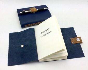 Bourbon Tasting Journal - Blue Leather - In Stock
