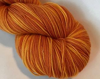 MORE POSH Merino, cashmere, nylon fingering yarn, Mandarin
