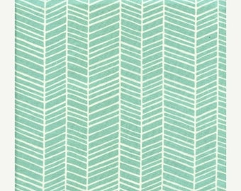 SALE 10% Off - Herringbone in Pond (Aqua) JD36 - Joel Dewberry - Modern Meadow - Free Spirit Fabric  - By the Yard
