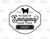 In Case of Emergency Pet Safety Sticker - Save Our Pet - Vinyl Decal - Set of 2