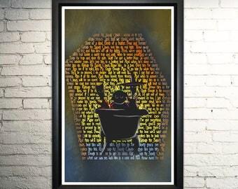 "Nightmare Before Christmas Lock Shock and Barrel FRAMED word art print - 11x17"""