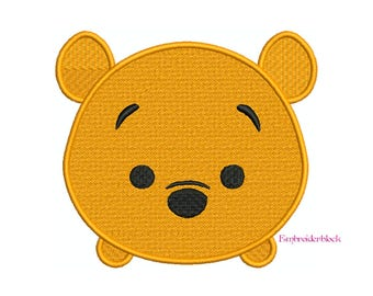 TSUM TSUM Winnie the Pooh - Machine Filled Embroidery - Instant Digital Download