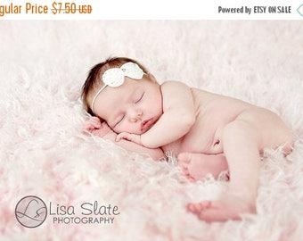 12% off baptism bow Newborn headbands Baby headband Adult headband Child headband Baby hairbow Photo prop Preemie headband flower headband