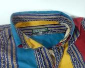 Vintage French Souleiado Shirt  in Provencal Cotton Print
