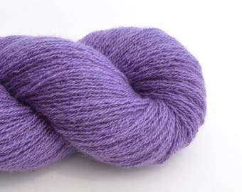 Reclaimed Cashmere Yarn, Lace Weight, Purple, Lot 020717