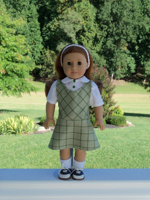 """JUMPER SALE!  18"""" Size / School Jumper and Blouse / Clothes  for 18"""" American Girl® Dolls"""