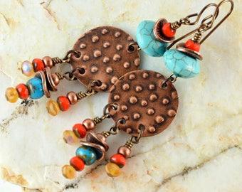 Multicolored Bohemian Earrings