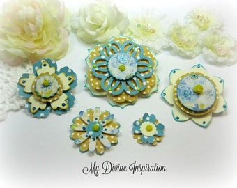 Authentique Felicity Paper Embellishments and Paper Flowers for Scrapbook Layouts Cards Mini Albums Planners Journals Tags and Paper Crafts